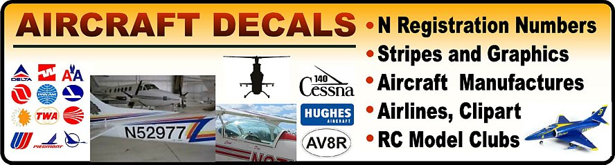 RC Model Airplanes Decals and Stickers