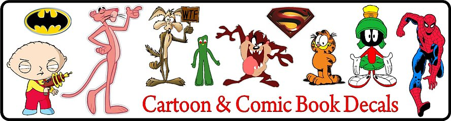 Cartoon Stickers and Decals | Comic Book Stickers and Decals