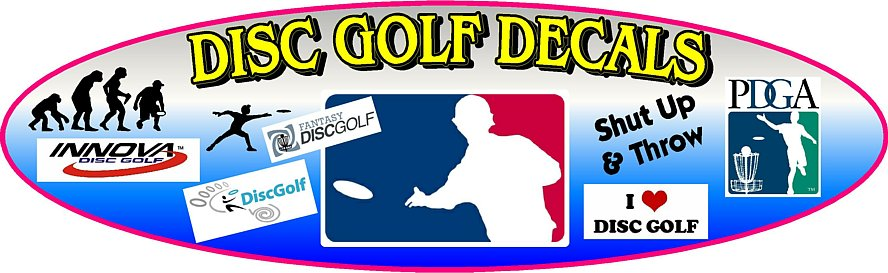 Disc Golf Decals and Stickers