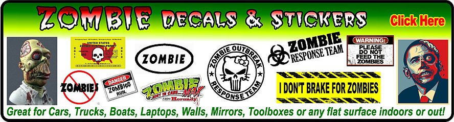 Zombie Stickers and Decals